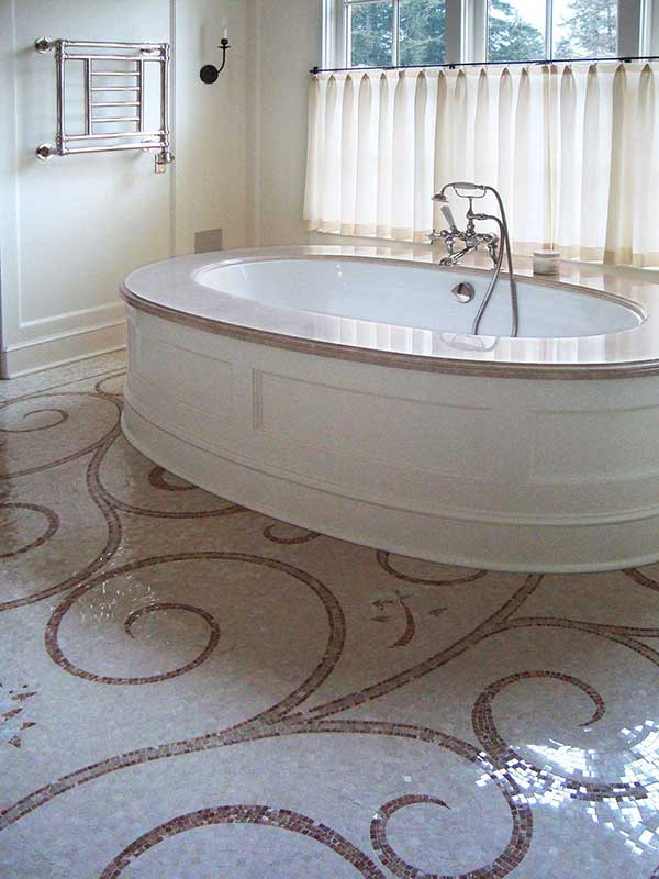 Seattle custom mosaic shintaffer silk mosaic bath